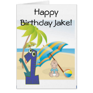 Baby Boy's First Birthday Card