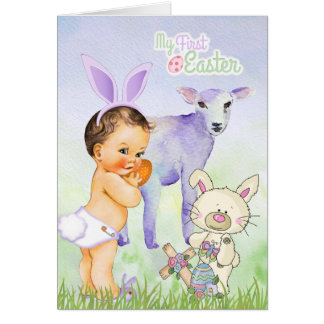Baby Boy's First Easter Card