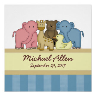 Baby Boy's Personalized Name Nursery Poster