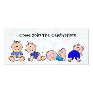 Baby Boys Shower Invitation  Cartoon Fun