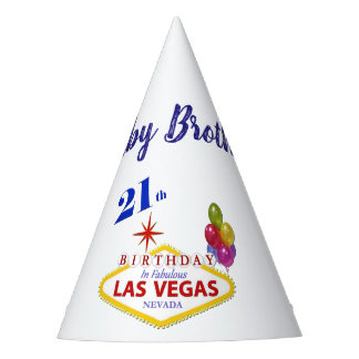 Baby Brother 21st Las Vegas Birthday Party Hat