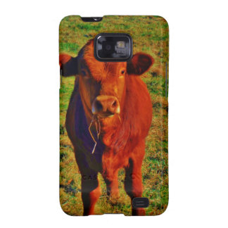 BABY BROWN COW EATING SAMSUNG GALAXY S2 COVERS