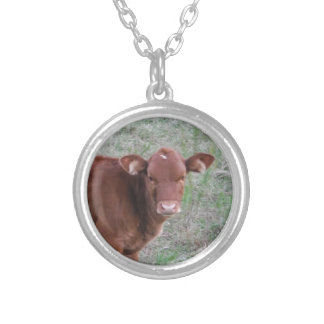 Baby Brown Cow face Pendant