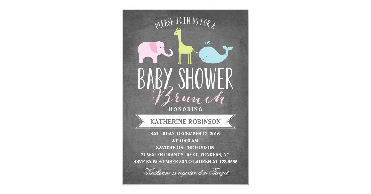 baby brunch baby shower invitation zazzle