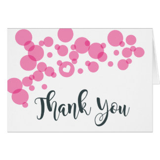Baby Bubbles Thank You Pink Card