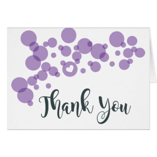 Baby Bubbles Thank You Purple Card