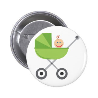 Baby Buggy 2 Inch Round Button