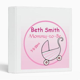 Baby Buggy Baby Shower Vinyl Binders