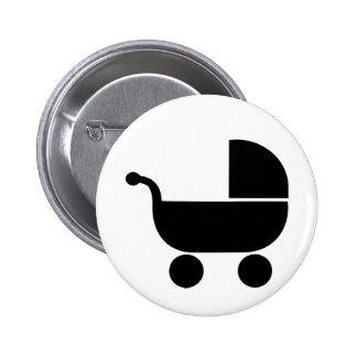 Baby buggy pinback buttons