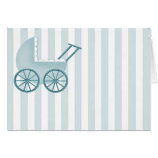 Baby Buggy Card (Blue)