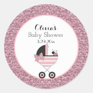 Baby Buggy Ladybug Round Sticker
