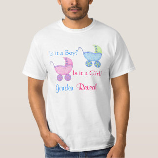 Baby Buggy Pink Blue Gender Reveal Party Man's T-Shirt