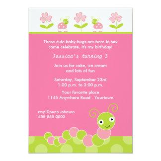 Baby Bugs Birthday Party Invitation