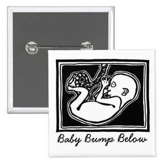 Baby Bump Below button by FacePrints