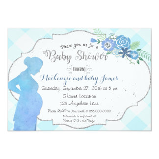Baby Bump Silhouette Baby Shower Invitation