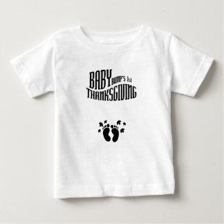Baby Bump's 1st Thanksgiving pregnant thanksgiving Baby T-Shirt