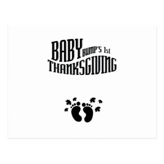 Baby Bump's 1st Thanksgiving pregnant thanksgiving Postcard
