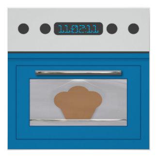 Baby Bun Recipe Invitation(blue) Card