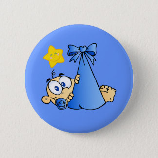 Baby Bundle and Sun 2 Inch Round Button