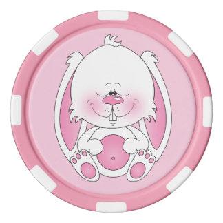 Baby Bunny Cartoon Poker Chip Set
