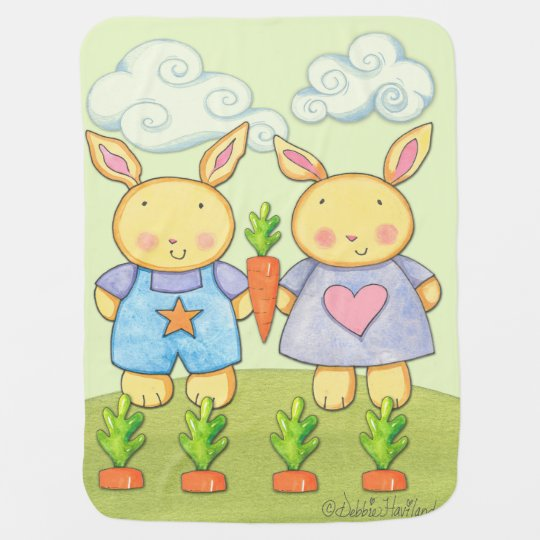 Baby Bunny Fleece blanket Stroller Blankets
