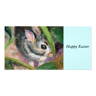 Baby Bunny Hiding Picture Card