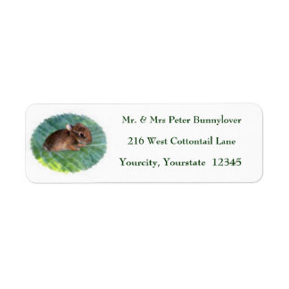 Baby Bunny Personalized Return Address Labels