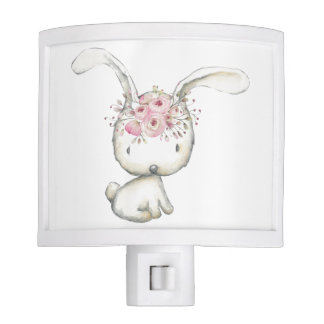 Baby Bunny Watercolor Night Light