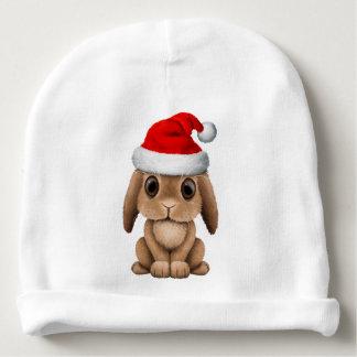 Baby Bunny Wearing a Santa Hat Baby Beanie