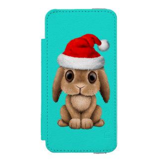 Baby Bunny Wearing a Santa Hat Incipio Watson™ iPhone 5 Wallet Case