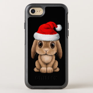 Baby Bunny Wearing a Santa Hat OtterBox Symmetry iPhone 8/7 Case