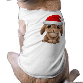 Baby Bunny Wearing a Santa Hat Shirt