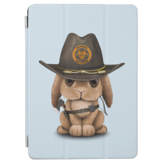 Baby Bunny Zombie Hunter iPad Air Cover