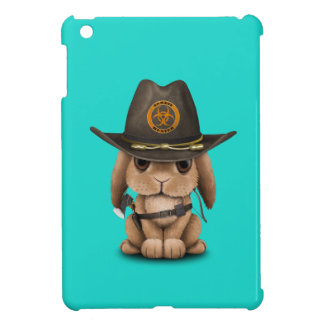 Baby Bunny Zombie Hunter iPad Mini Case