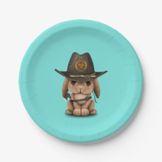 Baby Bunny Zombie Hunter Paper Plate
