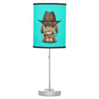 Baby Bunny Zombie Hunter Table Lamp