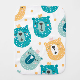 Baby Burp Cloth - Cool Bears Design