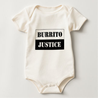 baby burrito justice (black on light background) baby bodysuit