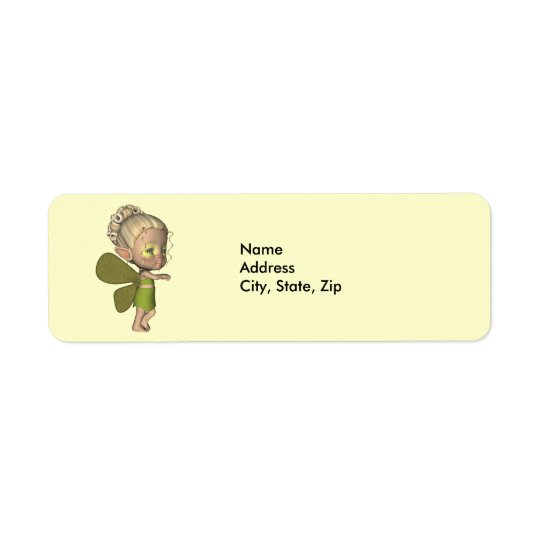Baby Butterfly Strangeling Addess Label Return Address Label