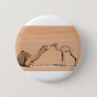 Baby Camel and its Mother 2 Inch Round Button