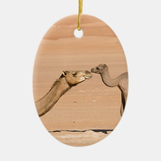 Baby Camel and its Mother Ceramic Ornament
