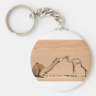 Baby Camel and its Mother Keychain