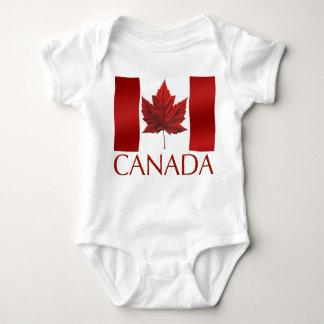 Baby Canada Flag Souvenir Organic One-Piece T-shirts