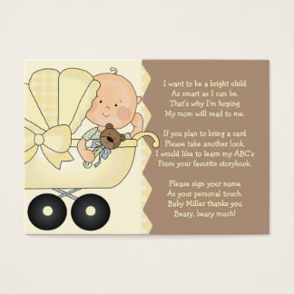 Baby Carriage -  Book Insert Card