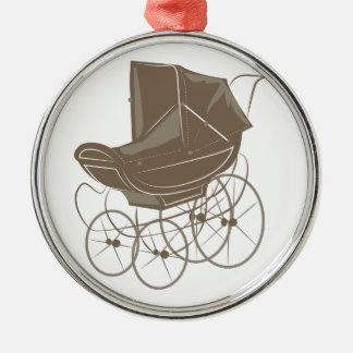 Baby Carriage Metal Ornament