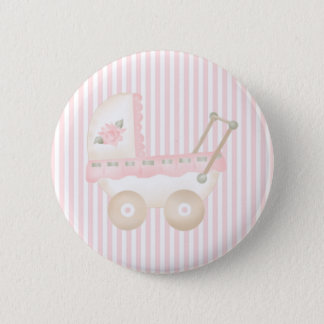 Baby Carriage Pink 2 Inch Round Button