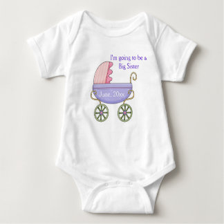 Baby Carriage Pink Infant Creeper
