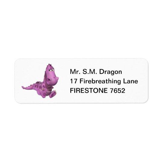 Baby Cartoon Dragons: Smoky Return Address Label