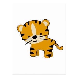Baby Cartoon Tiger Boy Postcard