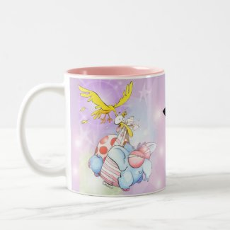 Baby celebration mug. Two-Tone coffee mug